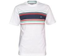 Herren Streifen T-Shirt Weiß