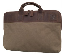 Lyle And Scott Vintage Mens Canvas Laptop Bag Khaki