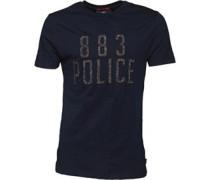 Herren Chine T-Shirt Navy