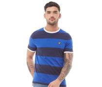 Wide Stripe Ringer T-Shirt Navy