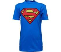 Jungen HeatGear Alter Ego Superman T-Shirt Blau