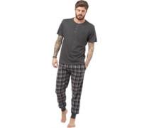 Herren Loungewear-Set Anthrazitmeliert