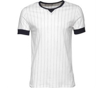 Herren Pinstripe T-Shirt Weiß