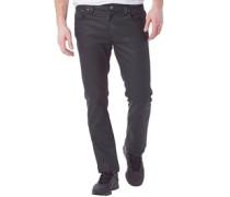 Herren Thin Finn Jeans in Slim Passform Back 2 Black