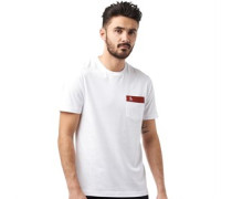 Herren Embroide Logo T-Shirt Weiß