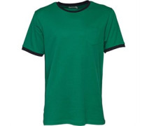 Herren Mini Waffle Ringer T-Shirt Jadegrün
