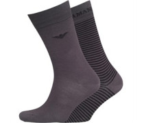 Emporio Armani Herren Anth Socken Grau