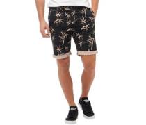 Herren Bamboo Printed Shorts Schwarz