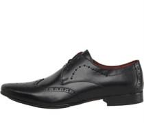 Herren Wing Tipped Schuhe Schwarz