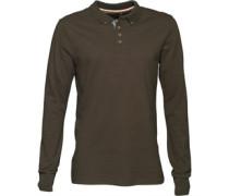 Mens Lincoln Long Sleeve Polo Shirt Dark Khaki