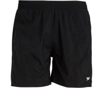 Solid Leisure 15 Inch Water Shorts Black