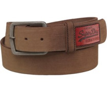 Mens Distressed Classic Belt in a Box Brown