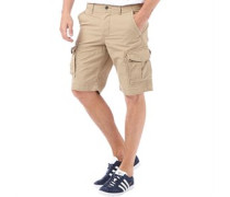 Herren Preston Cargo Shorts Steingrau