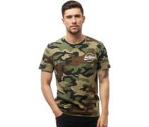 Herren Fax T-Shirt Tarnfarbe