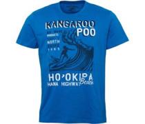 Herren Hana Highway Print T-Shirt Blau