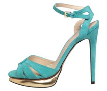 Little Mistress Womens Ankle Strap Peep Toe Sandals Turquoise