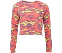 Damen Yoga Speedwick Camo Sweatshirt Rotmeliert