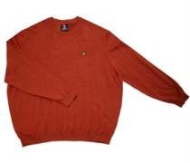 Pullover mit Rundhalsausschnitt Dunkelorange