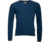 Herren Lambswool Mix Pullover mit V-Ausschnitt Blaugrün
