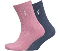 Damen 2 Pack Socken Mehrfarbig