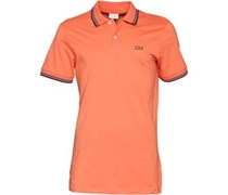 Herren New Kontrast Polohemd Orange