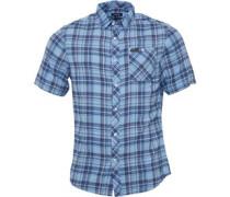 Herren Casper Hemd mit kurzem Arm Bluebell Checked
