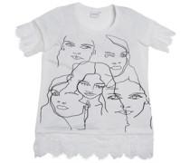 Junarose Damen Face Ivory T-Shirt Ecru