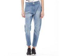 Damen Jeans in Slim Passform Verblasstes Hellblau