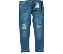 Herren Drogba Crop Skinny Jeans Blau