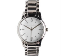 Herren Armbanduhr Silber