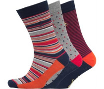 Herren Three Pack Multi Socken Navy