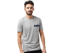 Herren Embroide Logo T-Shirt Grau