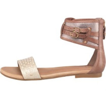 Damen Savana Metallic Basket Sandalen Braun