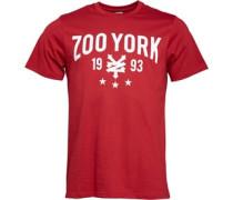 Zoo York Herren Crank Script Logo Rio T-Shirt Rot