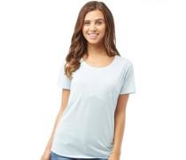 Damen Low Hals Corp T-Shirt Blau