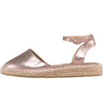 Damen Metallic With Ankle Strap Espadrille Gold