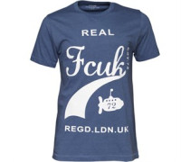 French Connection Herren FCUK Sub T-Shirt Blau