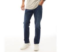 Larkee 084NR Jeans mit geradem Bein Dunkel