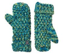 Damen Flurry Lined Mitts Handschuhe Grün