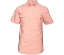 Kangaroo Poo Herren Plain Peach Hemd mit kurzem Arm Peach