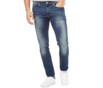 Herren Deadly 02 Skinny Jeans Denimmeliert Blau