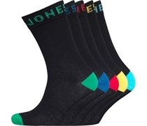 JACK AND JONES Herren Five Pack Socken Schwarz