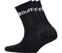 Junior Three Pack Classic Socks Black