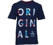 Jungen Argyle Logo T-Shirt Navy