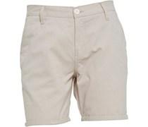 Herren Twill Chino Shorts Ecru