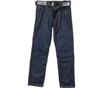 Crosshatch Herren Hitchen Jeans mit geradem Bein Blau