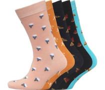 Herren Fünf Pack Socken Mehrfarbig