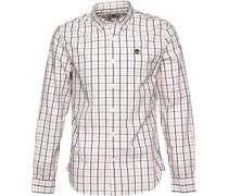 Timberland Herren Poplin Hemd Mit Langem Arm Weiß