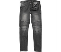 Brave Soul Mens Rory Biker Jean Dark Grey Wash