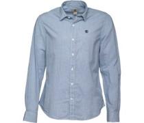 Herren Herring Cove Poplin Geprüft Hemd mit langem Arm Königsblau